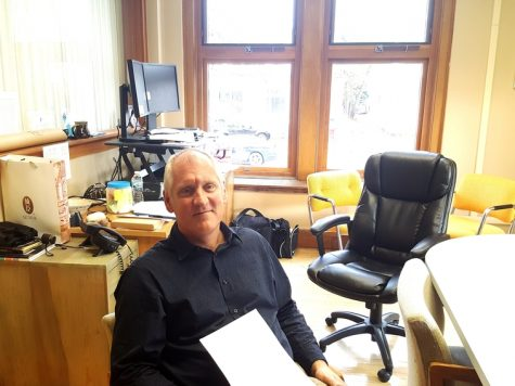 Trading places:  students and staff get used to new office arrangement
