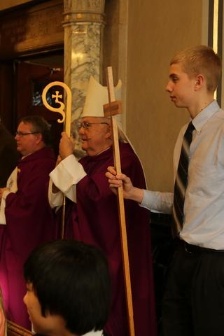 Bishop Quinn celebrates Ash Wednesday at Cotter