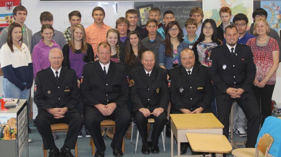 German police visit Cotter classroom