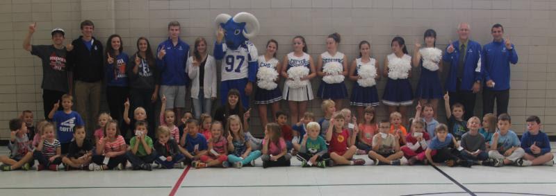 Rambler athletes visit schools