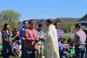 Weather perfect for Earth day mass