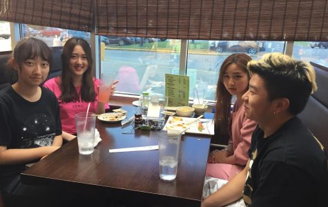 Cotter students enjoying dinner at Ocean Sushi