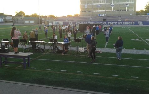 Marching band prepares for Friday