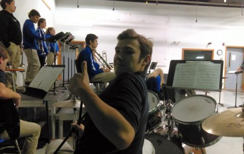 Sam swings sick beats at band