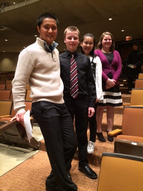 Four students attend Dorian Vocal Festival