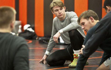 Jack Vaselaar at practice.  (photo by Winona Daily News)
