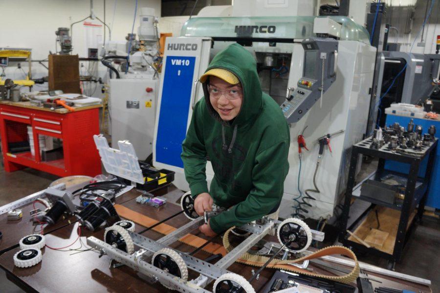 Justin Franz represents Cotter on local robotics team