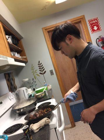 Benny cooks a farewell dinner