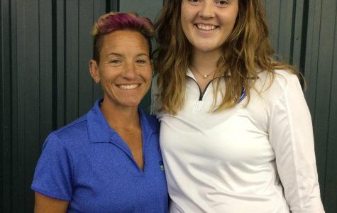 Ann Besek, Head coach of Girls tennis (left), and Erin Getzin, Assistant coach (Right)