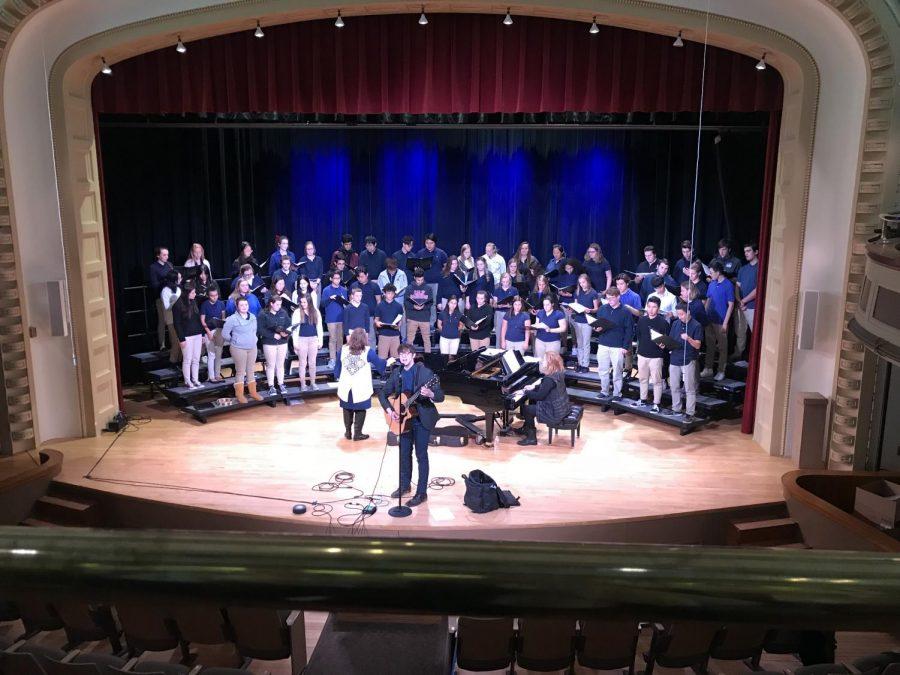 Chris Koza leads Cotter choir in concert