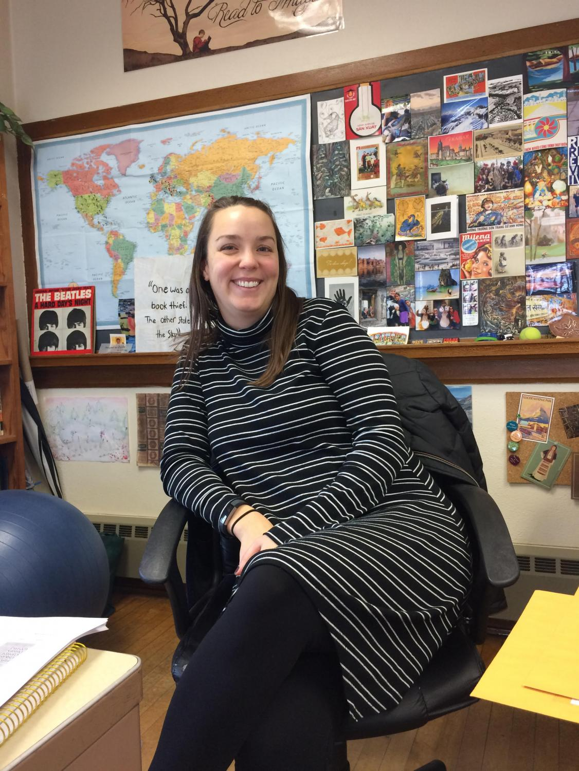 Ms. Emily Shriver, Cotter speech coach, looks forward to a strong season for the team