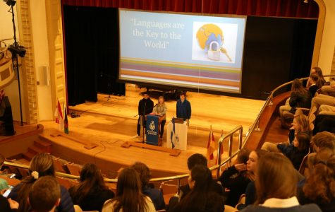 Cotter kicks off International Week with assembly