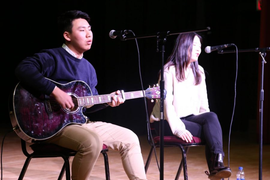 Kevin+Lee+and+Clare+Seo+perform+%22Let+Her+Go%22+at+Cotter+talent+show
