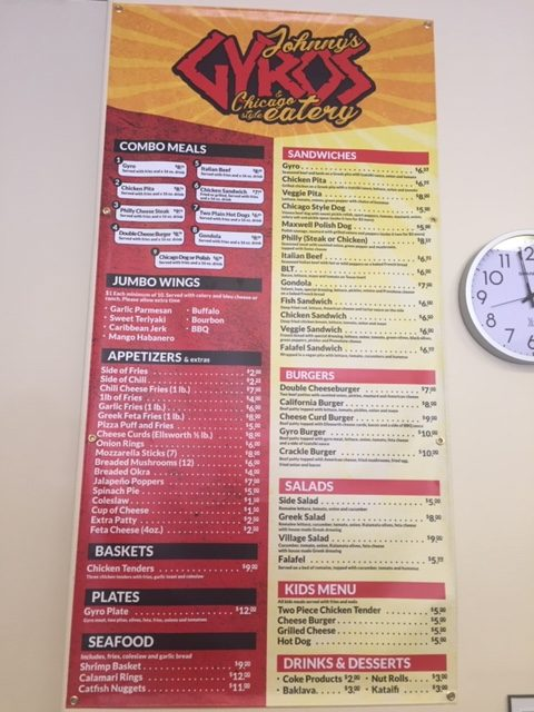 Johnny's Gyro's: new food option downtown still working out issues