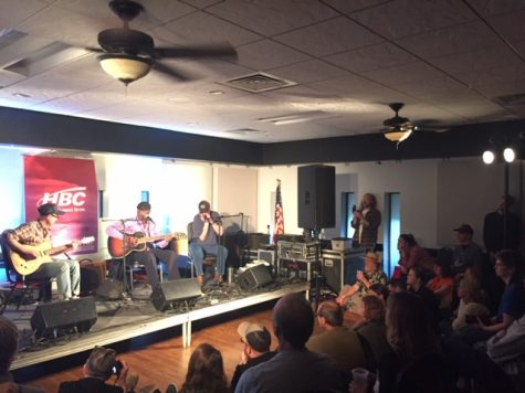 "Jimmy ""Duck"" Holmes (center) performs at the Winona Eagles Club as part of MidWest Music Fest on May 4, 2019"