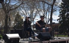 Cotter seniors Clare Seo and Kevin Lee performing at MWMF at Winona's Levee Park
