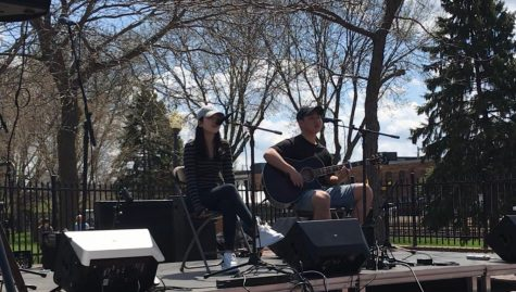 Cotter seniors Clare Seo and Kevin Lee performing at MWMF at Winona