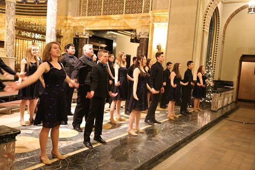 The show choir at a  performance in The Chapel of the Angels last year