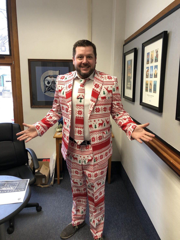 Erik Christenson kicks the Christmas season spirit up a notch