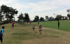 Lauren leads Grace during the 2019 Arizona AIA State Cross Country Championships