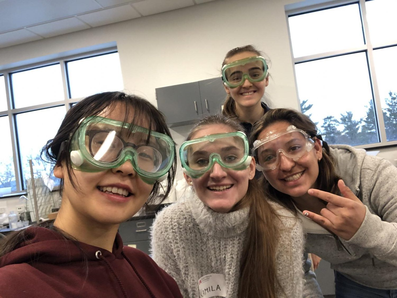 Cotter students at St. Mary's University's Chemistry Day