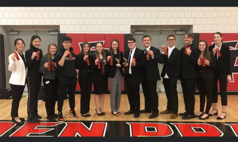 Cotter speech team members who place at the Eden Prairie High School speech meet.