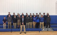 Pat Mullen and high school boys after the first
