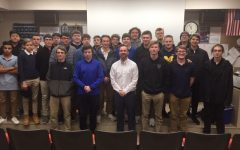 Cotter grad. Joe Coron speaks to the Boys to Men group