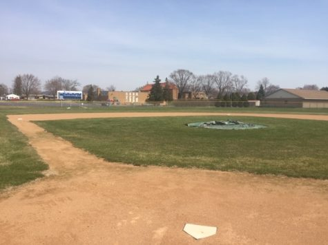 The Cotter baseball field sits idle in 2020