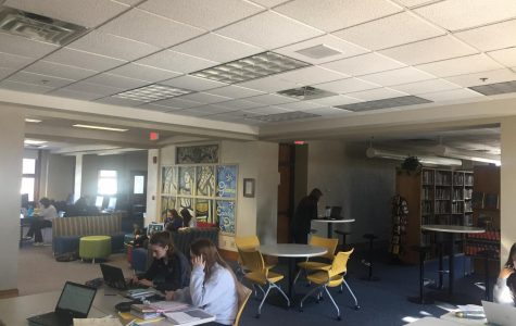 Cotter's fifth hour study hall  hard at work.