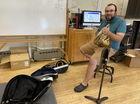"Mr. Meurer ""cleaning crap"" in the band room early in the school year"