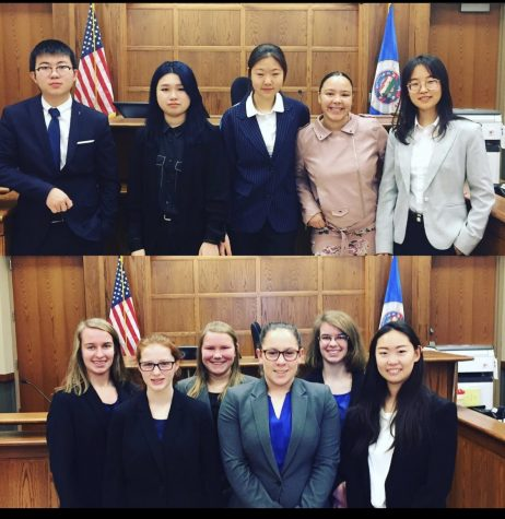 Previous Cotter Mock trial team. This year, the team competes via zoom.
