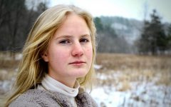 Freya Brandvik at home in the great outdoors in a valley outside of Winona.