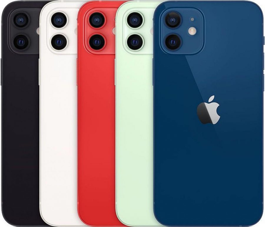 The+Iphone+12+in+it%27s+five+different+colorways