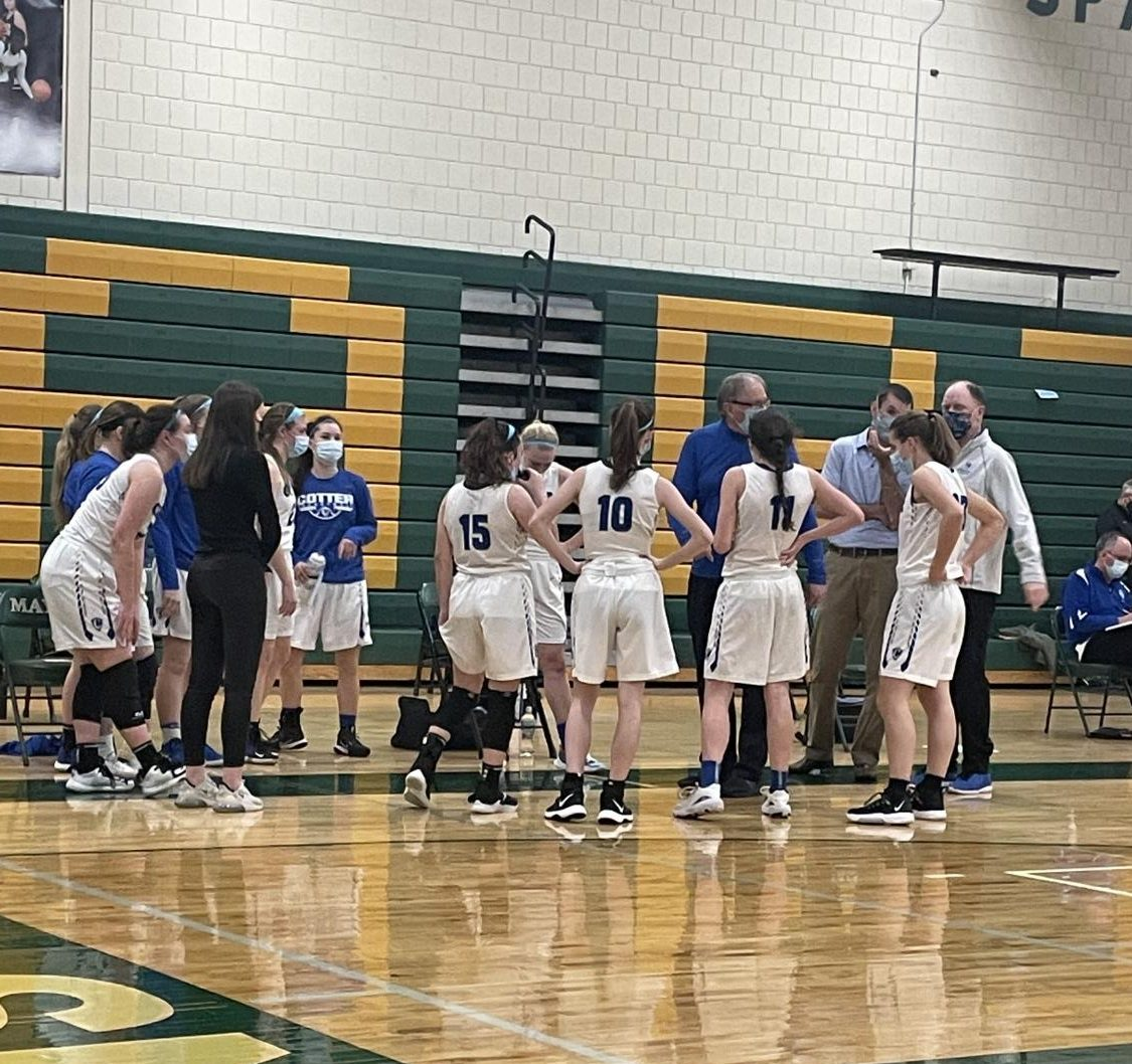 Cotter girls drop section semifinal to close successful season