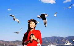 Lexi Licheng busking in Dali