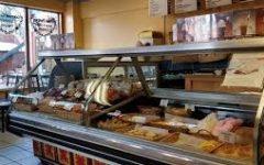 The pastry case at La Francaise bakery in Breckenridge, Colorado