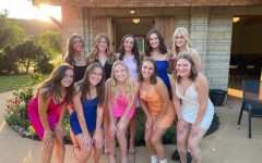Top row, left to right: Mallory E, Olivia G, Megan M, Tess M, Esme B  Bottom row, left to right: Allyssa W, Sera S, Amaiya K, Megan C, Hailey B. prior to the homecoming dance